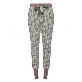 Dámské pyžamové kalhoty Flowers  zelená