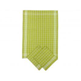 Set kuchyňských utěrek zelený 50x70 cm bavlna