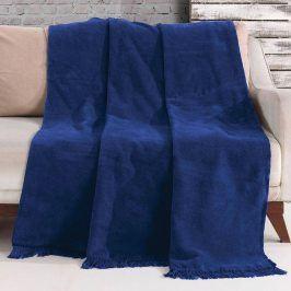 Deka Luxus Modrá 150x200 cm modrá