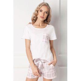Dámské pyžamo Londie krátké  bílá