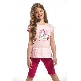 Dívčí bavlněné pyžamo Unique  růžová