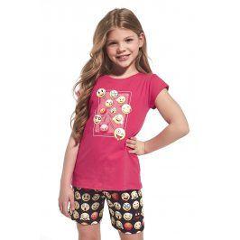 Dívčí pyžamo Emoticon  červená