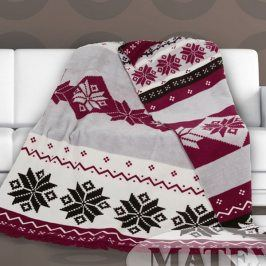 Bavlněná deka Matteo bordó 150x200 cm bordó