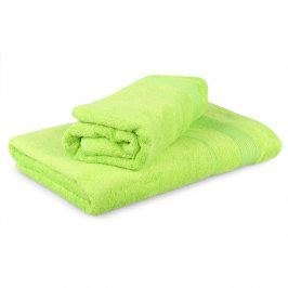 Set 2 bambusových ručníků Moreno - limonkový Set Dvoudílný set