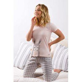 Dámské pyžamo Calin dlouhé  růžová
