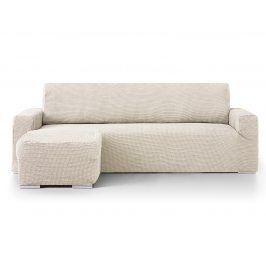 Potah na rohovou sedačku smetanový - levý 230 - 300 cm bílá