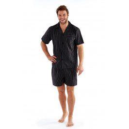 Pánské pyžamo Harvey Black  Stripe  černá