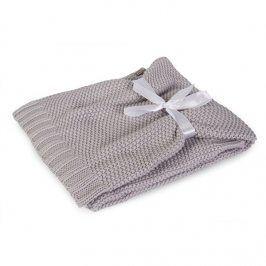 Pletená dětská deka Tully šedá dětská deka šedá