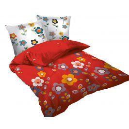 Povlečení Story Red 220x200 dvojlůžko - standard bavlna