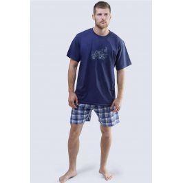Pánské pyžamo Harley modré  tmavěmodrá