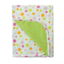 Dětská deka Ines bílo - zelená dětská deka barevná