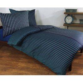 Povlečení Augusto modré 140x200 jednolůžko - standard Bavlněný satén