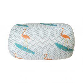 Polštářek Surf flamingo 30x17 cm barevná