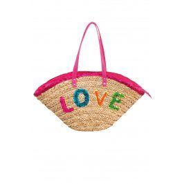 Plážová taška Funtext Love  růžová