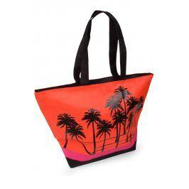 Plážová taška Acapulco Palm  červená
