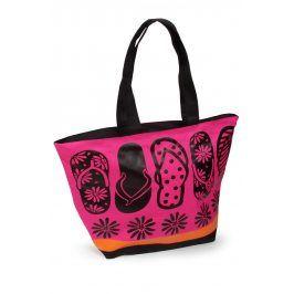 Plážová taška Acapulco Tongues  růžová