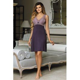 Elegantní košilka Larisa Plum  fialová