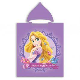 Dětské pončo Princezna Locika 50x115 cm fialová