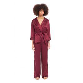 Dámské kimono pyžamo Wren  vínová