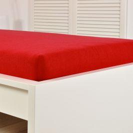 Napínací prostěradlo froté červené Dvoulůžko - standard Bavlna - froté