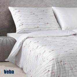 Damaškové povlečení Love 140x200 jednolůžko - standard bavlna
