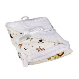 Dětská deka ZOO 76x91 cm bílá