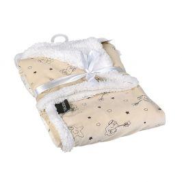 Dětská deka Sleeping Bear 76x91 cm béžová