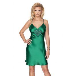 Luxusní saténová košilka Emerald  zelená