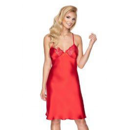 Luxusní saténová košilka Remi červená  červená