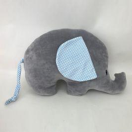 Dětský polštářek  Slon  šedá