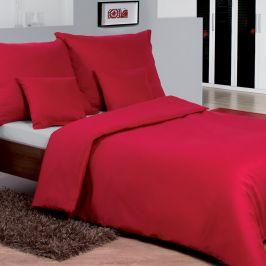 Jednobarevné saténové povlečení červené 140x200 jednolůžko - standard Bavlněný satén