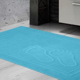 Koupelnová předložka Feet aqua 50x70 cm bavlna