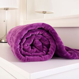 Mikroflanelová deka Exclusive fialová 150x200 cm mikroflanel