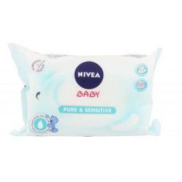 Nivea Baby Pure & Sensitive 63 ks čisticí ubrousky