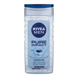 Nivea Men Pure Impact 250 ml sprchový gel na tělo a vlasy pro muže