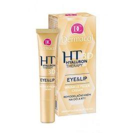 Dermacol 3D Hyaluron Therapy Eye&Lip Wrinkle Filler Cream 15 ml remodelační krém na oči a rty pro ženy