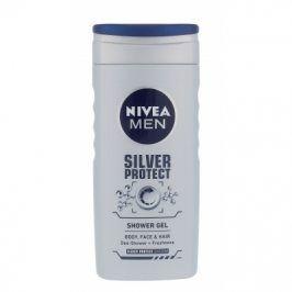 Nivea Men Silver Protect 250 ml sprchový gel na tělo, tvář a vlasy pro muže