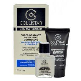 Collistar Men Daily Protective Supermoisturizer 50 ml dárková kazeta dárková sada pro muže denní pleťový krém 50 ml + balzám po holení Sensitive Skin 15 ml