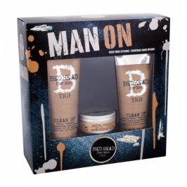 Tigi Bed Head Men Clean Up 250 ml dárková kazeta dárková sada pro muže šampon 250 ml + kondicionér Clean Up Peppermint 200 ml + vosk na vlasy Matte Separation Wax 85 g