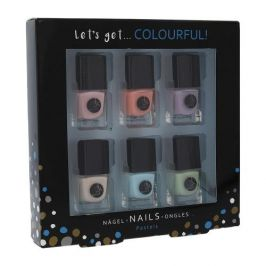2K Let´s Get Colourful! Pastels dárková kazeta pro ženy lak na nehty 6x 5 ml