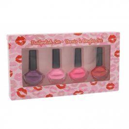 2K Nails With A Kiss 6 ml dárková kazeta dárková sada pro ženy lak na nehty 4x 6 ml