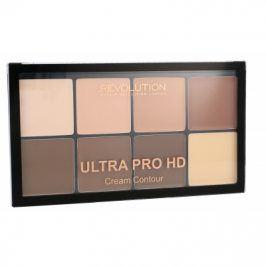 Makeup Revolution London Ultra Pro HD Cream Contour Palette 20 g krémová konturovací paletka pro ženy Light Medium