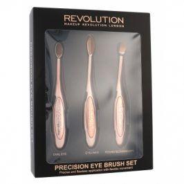 Makeup Revolution London Brushes Precision Eye Brush 1 ks dárková kazeta dárková sada pro ženy kosmetický štětec na oční stíny 1 ks kulatý + kosmetický štětec na oční stíny 1 ks oválný + kosmetický štětec na oční linky 1 ks