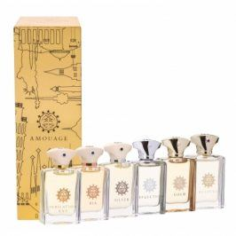 Amouage Mini Set Classic Collection dárková kazeta pro muže 6x 7,5 ml edp Gold + Dia + Silver + Reflection + Jubilation XXV + Beloved