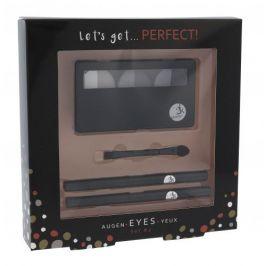 2K Let´s Get Perfect! 7 g dárková kazeta dárková sada pro ženy paletka očních stínů 3 x 2,2 g + aplikátor očních stínů 1 ks + tužka na oči 0,2 g 086 + tužka na oči 0,2 g 087 Grey
