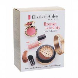 Elizabeth Arden Pure Finish 7,7 g dárková kazeta dárková sada pro ženy bronzer Pure Finish Mineral Bronzing Powder 7,7 g + štětec 1 ks + tvářenka Ceramide Cream Blush 2,67 g + lesk na rty Beautiful Color Lip Gloss 4 ml Medium