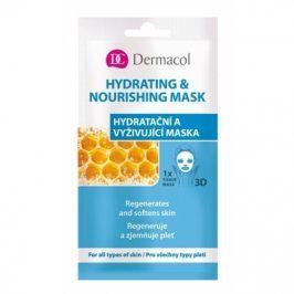 Dermacol Hydrating & Nourishing Mask 15 ml hydratační a vyživující pleťová maska pro ženy
