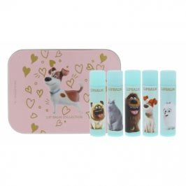 Universal The Secret Life Of Pets 4 g dárková kazeta dárková sada balzám na rty 5x 4 g