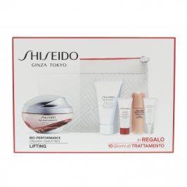 Shiseido Bio-Performance LiftDynamic Cream 50 ml dárková kazeta dárková sada proti vráskám pro ženy pleťový krém 50 ml + čisticí pěna BENEFIANCE 30 ml + sérum ULTIMUNE 5 ml + sérum LiftDynamic 7 ml + oční péče LiftDynamic 3 ml + kosmetická taška