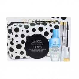 Collistar Art Design 12 ml dárková kazeta dárková sada pro ženy řasenka 12 ml + odličovač Gentle Two Phase 50 ml + kosmetická taška Black